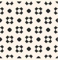 Seamless pattern with circles and crosses vector