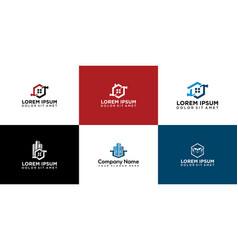 Set house renovation logo icon design vector