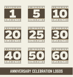 Set of anniversary symbols vector