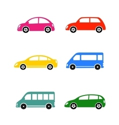 Set of colorful car vector