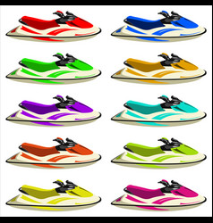 Set of jet skis vector