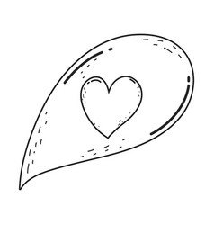 speech bubble with heart vector image