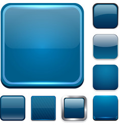 Square dark blue app icons vector image