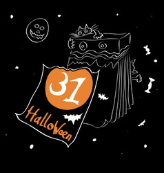 start of a holiday halloween vector image