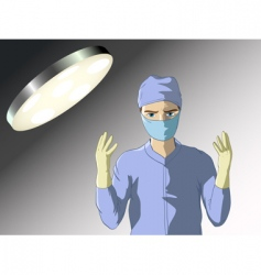 Surgeon prepared for operation vector