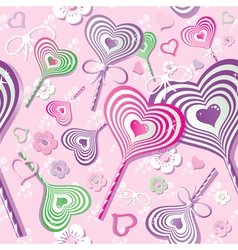 Sweet heart pattern old paper art vector