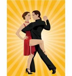 Tango dancers vector