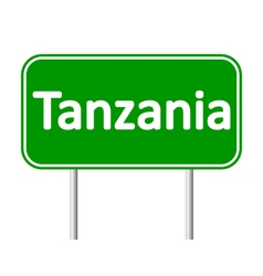 Tanzania road sign vector