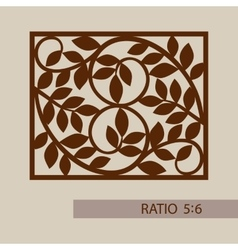 Template pattern for cutting decorative panel vector
