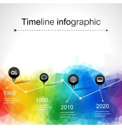 Timeline infographics elements and icons vector image