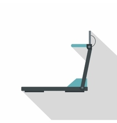 Treadmill icon flat style vector image