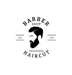 Vintage barber shop logo for your design vector