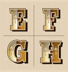 Vintage western alphabet letters font design vector