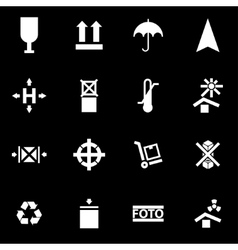 white marking of cargo icon set vector image
