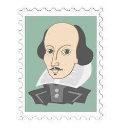 William shakespeare famous english poet vector