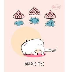 Yoga Cat in Bridge pose vector image