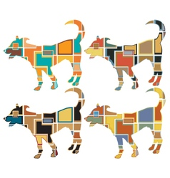 Young dog mosaics vector image
