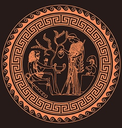 Athena and Heracles vector image