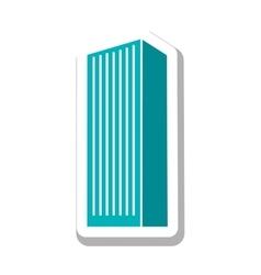 City building pictogram icon image vector