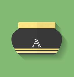 Cosmetic cream icon Flat style vector image