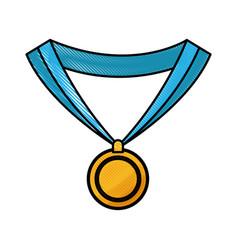 drawing medal award win sport image vector image vector image
