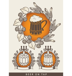 emblem for beers vector image vector image