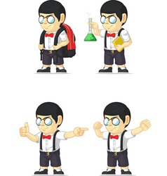 Nerd Boy Customizable Mascot 9 vector image vector image