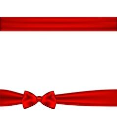 Red ribbon bow horizontal border vector image vector image