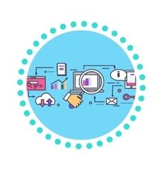 SEO Concept Icon Flat Design Style vector image