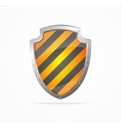 Striped Shield vector image vector image