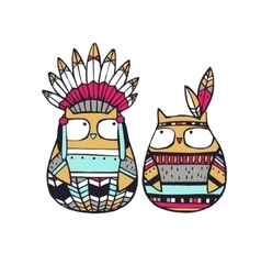American indian owls vector image