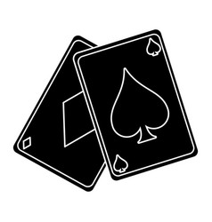 April fools day card aces pictogra vector