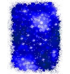 Blue grunge christmas background EPS 8 vector image