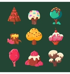 Cartoon Sweet Candy Land Collection vector image vector image
