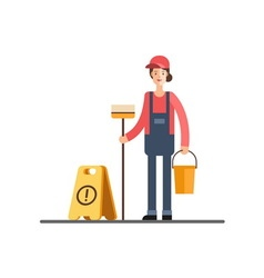 Cleaning service Cleaner woman vector image