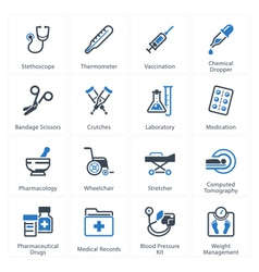 Health care icons set 1 - equipment and supplies vector