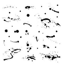 ink drops grunge paint design element set vector image vector image