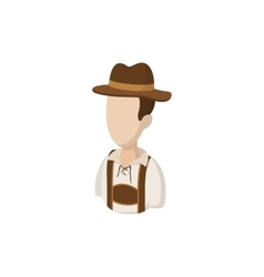 Man in traditional Bavarian costume icon vector image