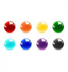 shiny balls vector image vector image