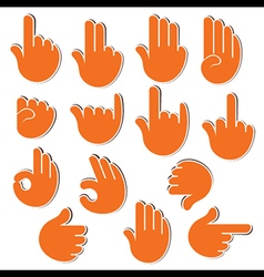 creative sign or signal show by hand finger vector image
