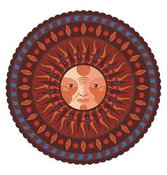 Decorative Fall Mandala vector image