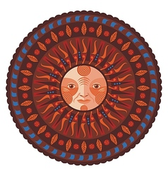 Decorative Fall Mandala vector image vector image