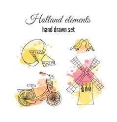 holland decorative elements Netherlands vector image