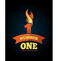 icons set of Flaming Numbers vector image