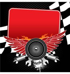 racing banner vector image vector image