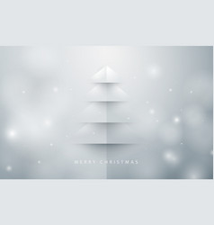 abstract christmas tree background paper art style vector image