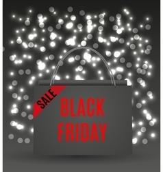 Black Friday bag vector image