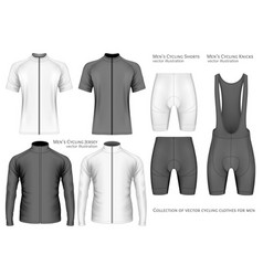 collection of cycling clothes vector image vector image
