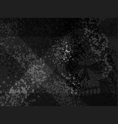 dark death danger x cross gloomy scull shadow vector image vector image
