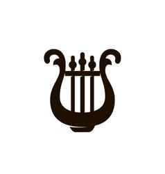 Harp Icon logo on white background vector image vector image
